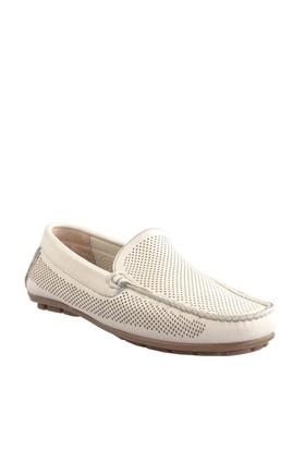 Cabani Lazerli Makosen Günlük Erkek Ayakkabı Bej Soft Deri