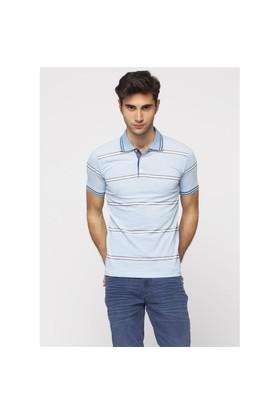 Adze Mavi Erkek Polo Yaka T-Shirt