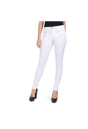 Only Jean Pantolon Onlroyal Skinny Zip 15096250-Wht