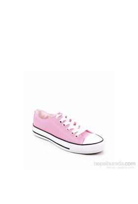 Gön Pembe Keten Trend Kadın Ayakkabı 35992