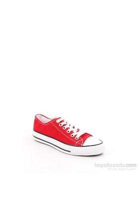 Gön Kırmızı Keten Trend Kadın Ayakkabı 35992