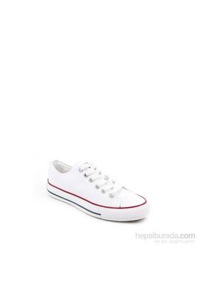Gön Beyaz Keten Trend Kadın Ayakkabı 35992