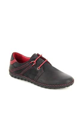 Hammer Siyah Deri Günlük Ayakkabı 31507M21