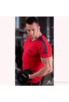 Bodydrom 005-05-Bdt Omuz Baskılı Kısa Kollu Kırmızı T-Shirt