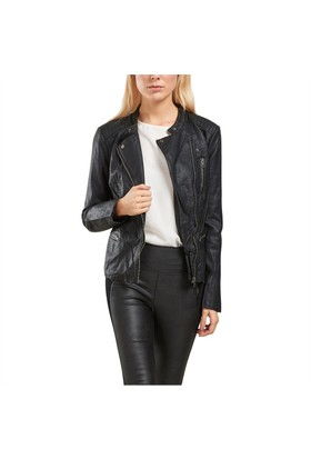 Only Deri Ceket Onlfreya Faux Leather Biker Ot 15110802-Blk