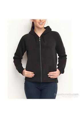 Köstebek Düz Fermuarlı Kadın Sweatshirt