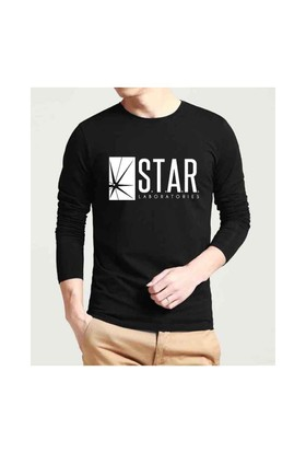 Köstebek S.T.A.R. Labs Erkek Uzun Kollu T-Shirt