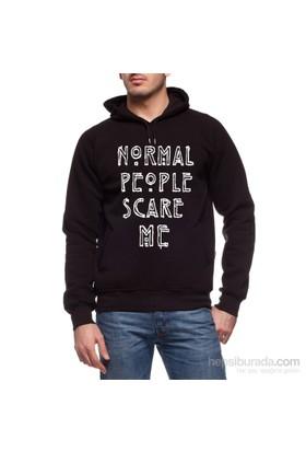 Köstebek Normal People Scare Me Erkek Sweatshirt