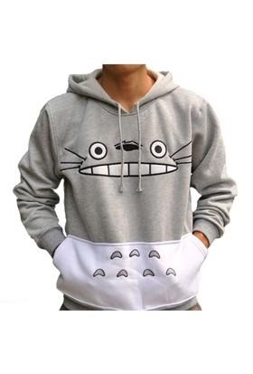 Köstebek Totoro Erkek Sweatshirt