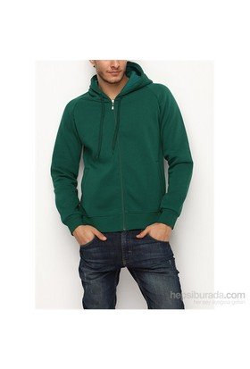 Köstebek Düz Fermuarlı Erkek Sweatshirt