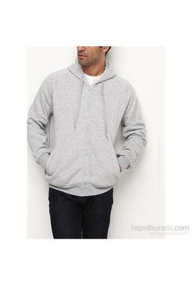 Köstebek Düz Fermuarsız Erkek Sweatshirt