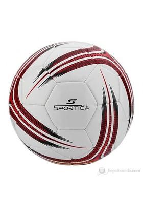 Sportica BF-500 Futbol Topu Makina Dikişli No:5 Beyaz/Kırmızı/Siyah