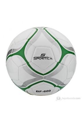 Sportica BF-600 Futbol Topu Makina Dikişli No:5 Beyaz/Yeşil/Gri