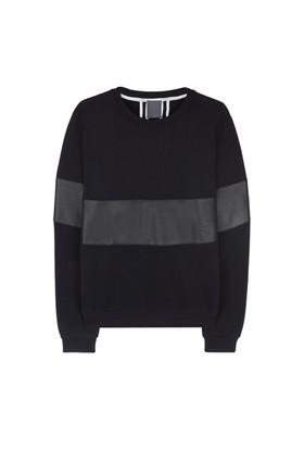 Lot 78 Deri Detaylı Sweatshirt