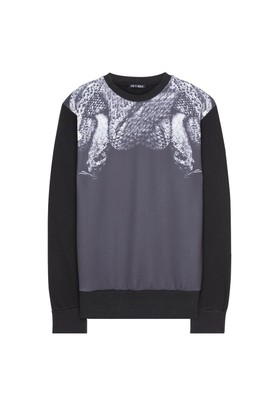 My T-Shirt Siyah Yılan Baskılı Sweatshirt