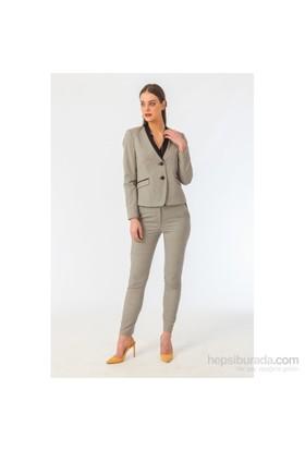 Naramaxx 231 Siyah - Beyaz Kadın Ceket