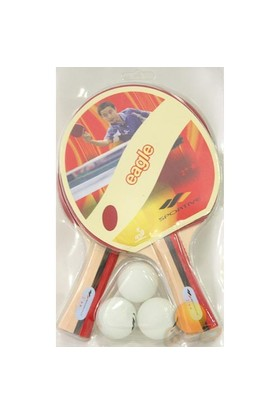 Sportive **eagle Masa Tenisi Raketi Seti (2RAKET + 3 Top)