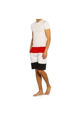 Erkek Deniz Şortu - Sport - 7155 - Kırmızı