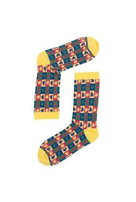 The Socks Company Puzzle Desenli Kadın Çorap 36-40 Numara