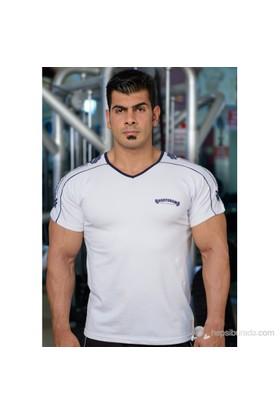 Bodydrom 005-02-Bdt Omuz Baskılı Kısa Kollu Beyaz T-Shirt
