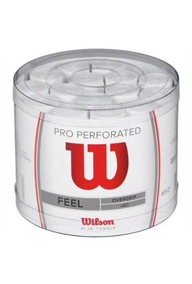 Wilson Pro Overgrip Perf.Bucket 60'lı WH ( WRZ4008WH )