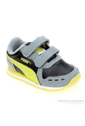 Puma Cabana Racer Sl V Kids Limestone Gray-Bl Çocuk Spor Ayakkabı 21-27