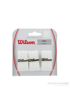 Wilson Pro Overgrip 3'lü Beyaz Perforated ( WRZ4005WH )