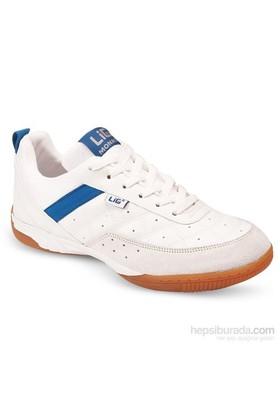 Lig Monaco Kauçuk Tabanlı Voleybol-Hentbol-Futsal Ayakkabısı Beyaz