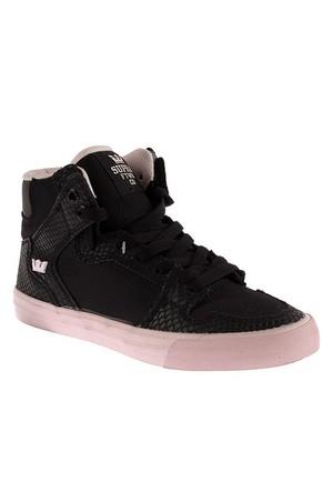 Supra Corner Womens Vaider Sw28023 Kadın Ayakkabı Black Pınk Whıte