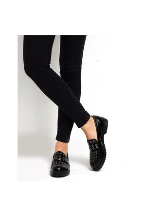 Mecrea Exclusive Rude Siyah Mat Rugan Kapsüllü Loafer Ayakkabı