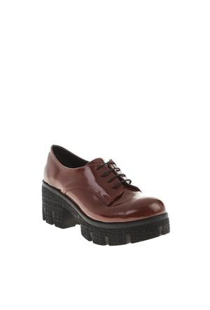 Derigo Bordo Rugan Kadın Ayakkabı 4018103