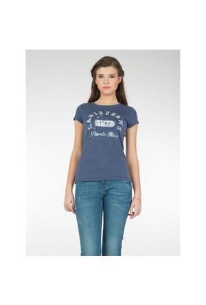 Colin's Mavi Kadın T-Shirt Kısa Kol