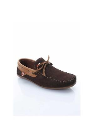 Shoes&Moda Kahverengi Nubuk Deri Ayakkabı 509-6-Ab142g934