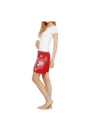 Sport Bayan Şort - 11607 - Kırmızı
