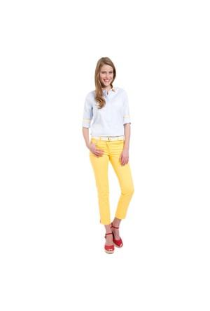 U.S. Polo Assn. Kadın Sarı Pantolon