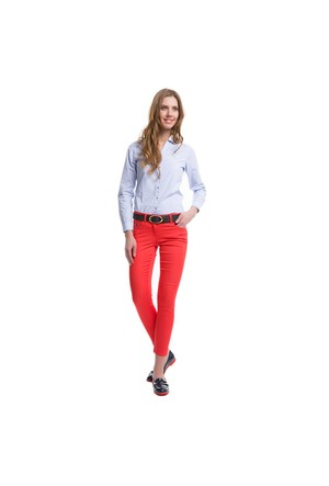 U.S. Polo Assn. Kadın Kırmızı Pantolon