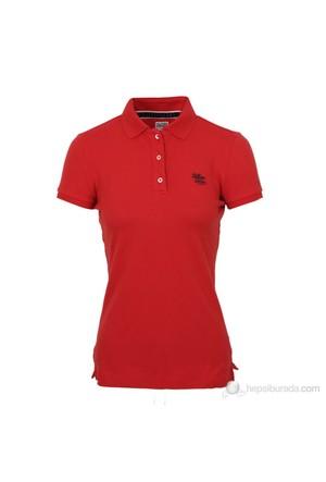 Tommy Hilfiger Kadın Polo Yaka T-Shirt Kırmızı