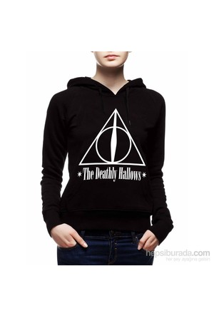 Köstebek Harry Potter - The Deathly Hallows Kadın Sweatshirt