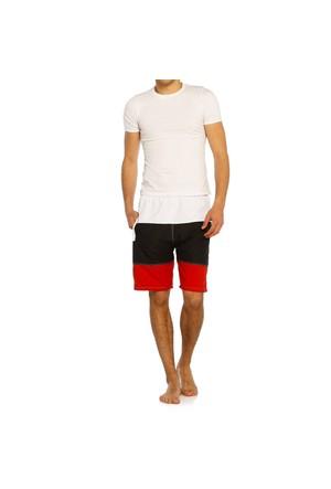 Erkek Deniz Şortu - Sport - 7155 - Beyaz