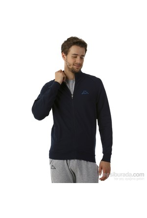 Kappa 1 302Y7J 821M Erkek Likralı Fermuarlı Sweatshirt Lacivert