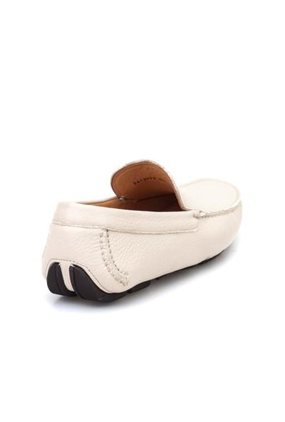 Cabani Makosen Günlük Erkek Ayakkabı Bej Floter Deri