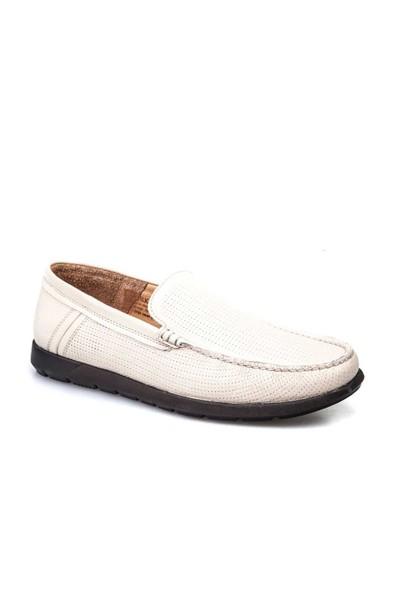 Cabani Loafer Günlük Erkek Ayakkabı Bej Floter Deri