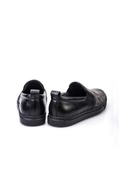 Cabani Sneaker Erkek Ayakkabı Gri Croco Deri