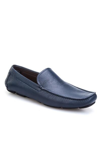 Cabani Makosen Günlük Erkek Ayakkabı Lacivert Floter Deri