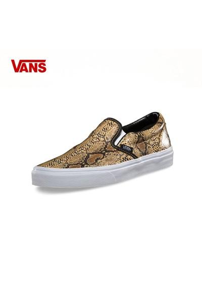 Vans Vxg8enn Classic Slip-On Leather-Snake Gold