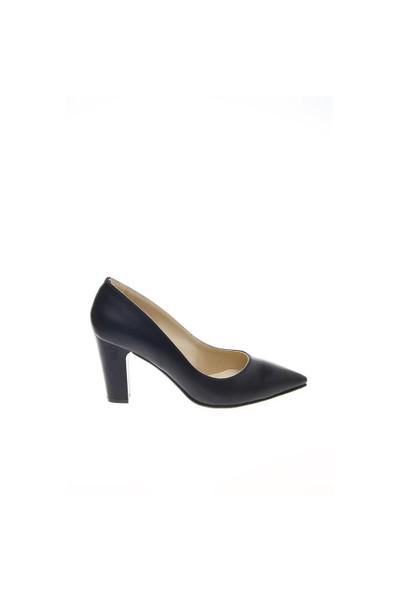 Shoes Time Topuklu Ayakkabı Lacivert Rugan 15Kk1198
