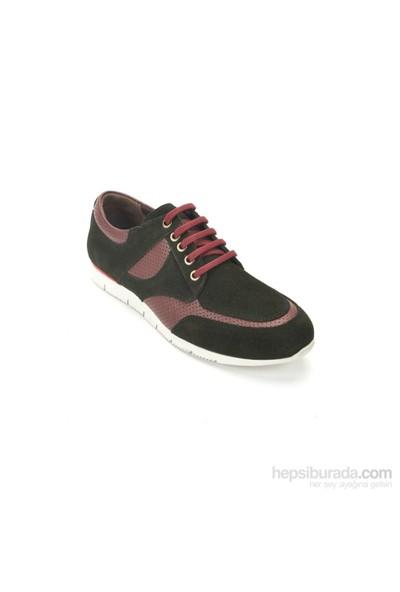 Pandew Erkek Günlük Ayakkabı Siyah Bordo