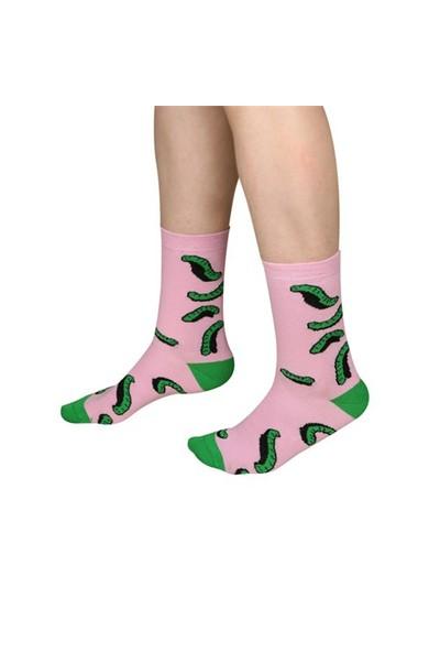 Thesockscompany Socks Worms Desenli Kadın Çorap 36-40 Numara