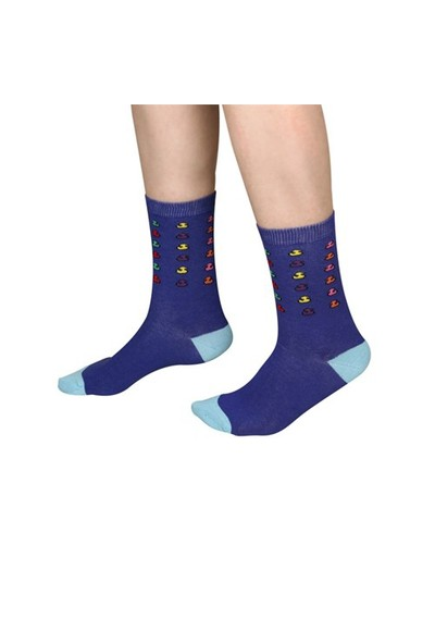 The Socks Company Follow Us Desenli Kadın Çorap 36-40 Numara