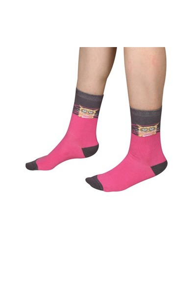 The Socks Company Darn It Desenli Kadın Çorap 36-40 Numara